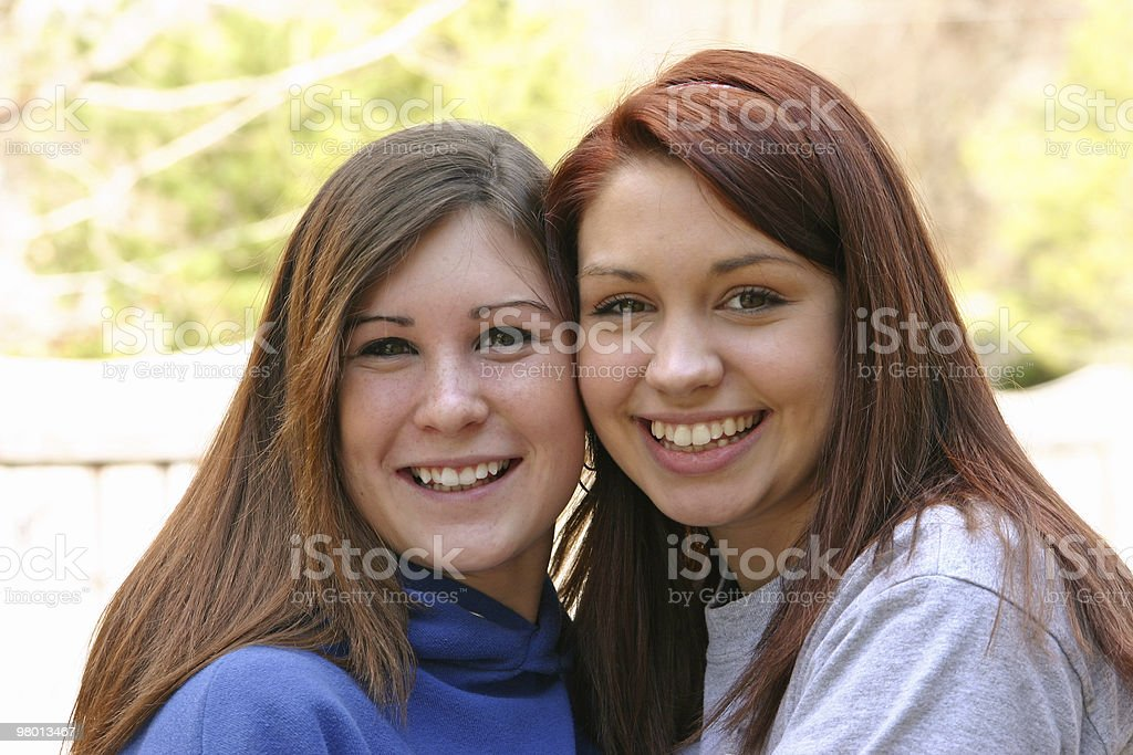 Two Teens royalty free stockfoto