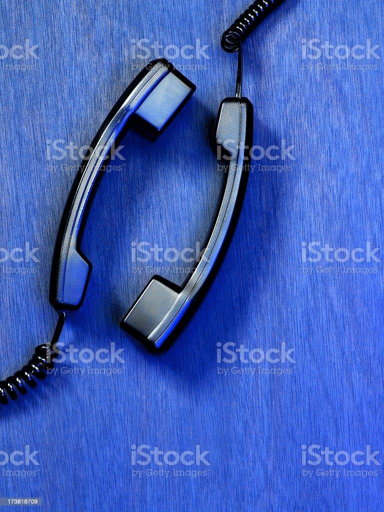 Two Telephone Handset, Telecommunication stock photo
