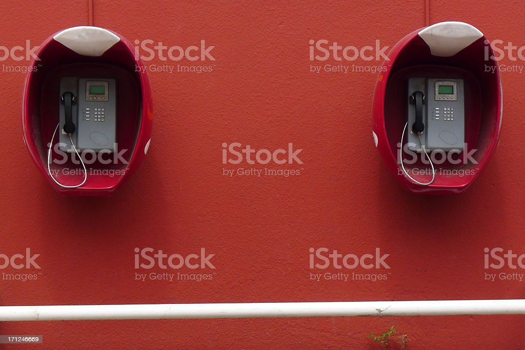 Two Telephones in Granada Nicaragua royalty-free stock photo