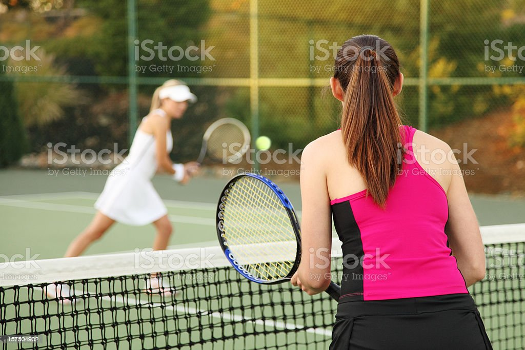 Two Tennis Players royalty-free stock photo