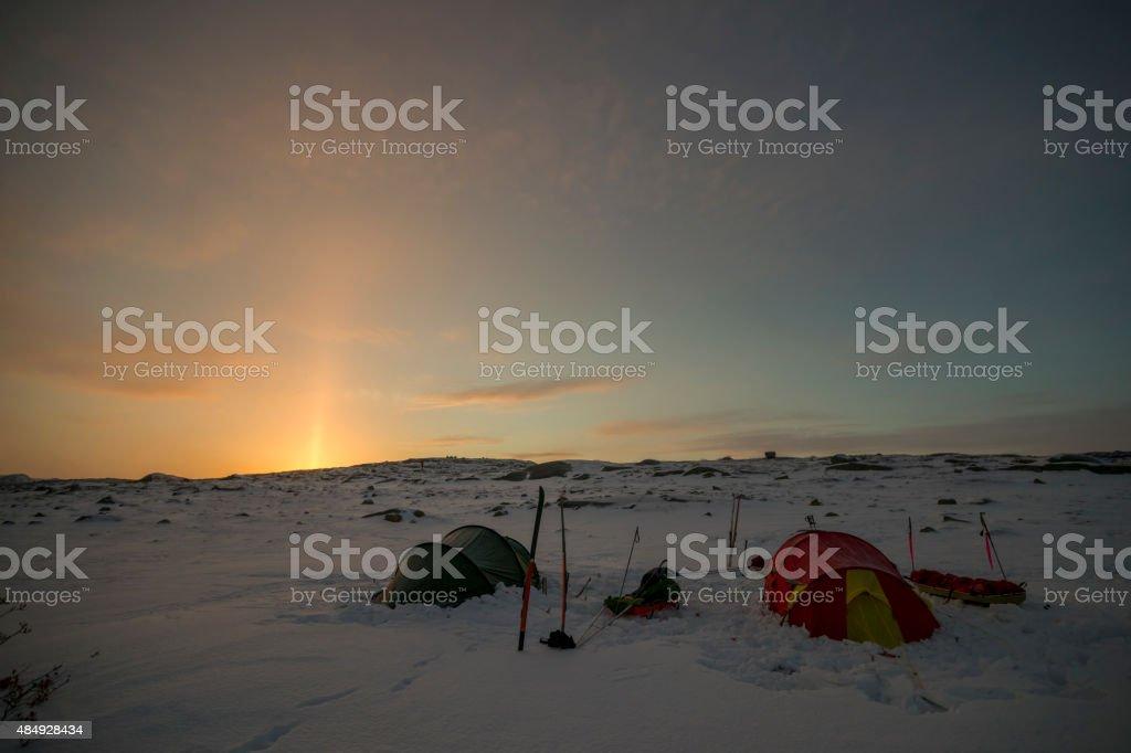 Zwei Zelte am Himmel – Foto