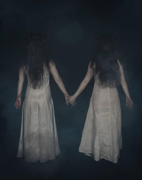 Two terrible ghost with horns on dark back pose picture id941443700?b=1&k=6&m=941443700&s=612x612&w=0&h=0jnxhvodqmzzjgiflma rvscox69yprhjiezkb6sm2u=