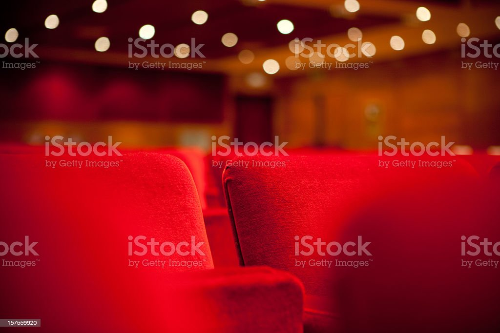 Two theater seats royalty-free stock photo