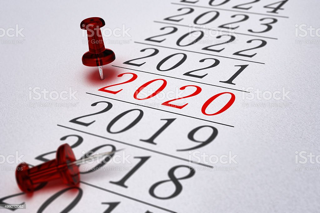 2020 - Two Thousand Twenty stock photo