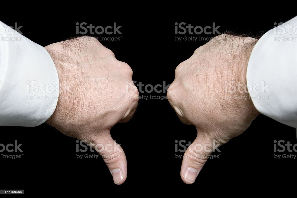 Two Thumbs Down stock photo