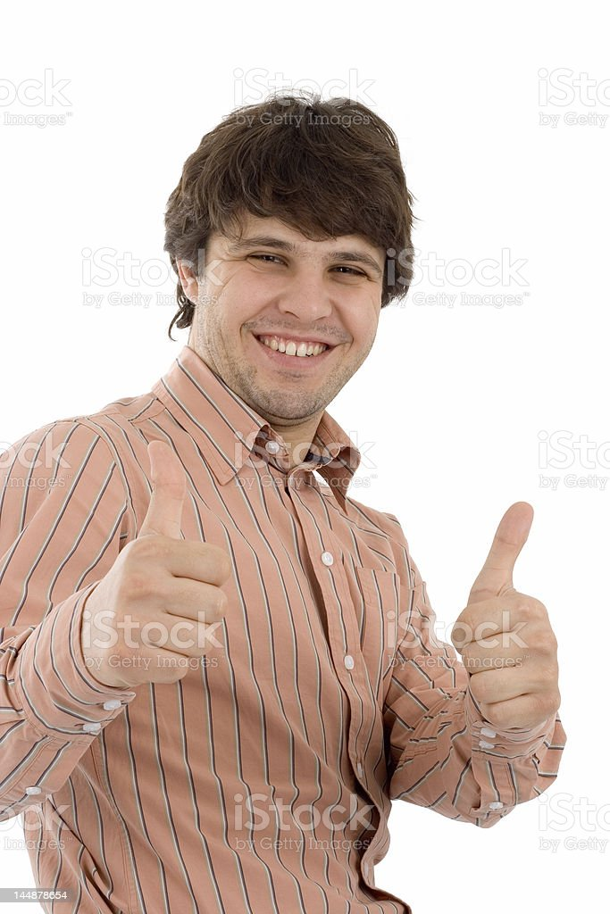 Two thumbs up! royalty-free stock photo