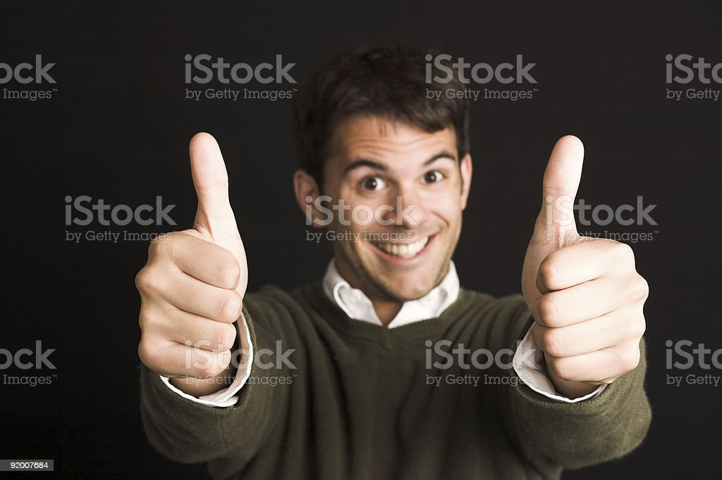Two Thumbs Up - Silly royalty-free stock photo