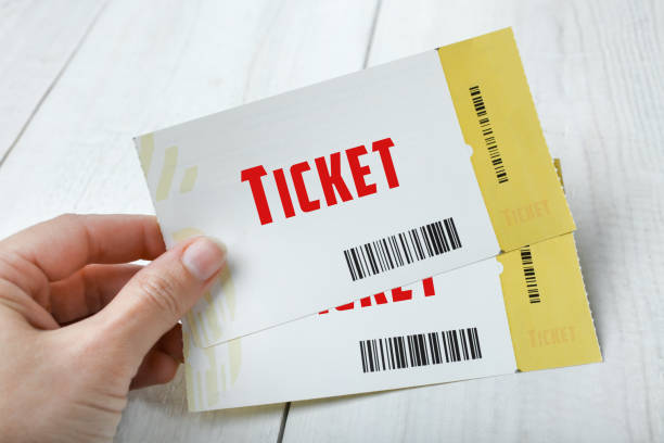 two tickets - ticket stock photos and pictures