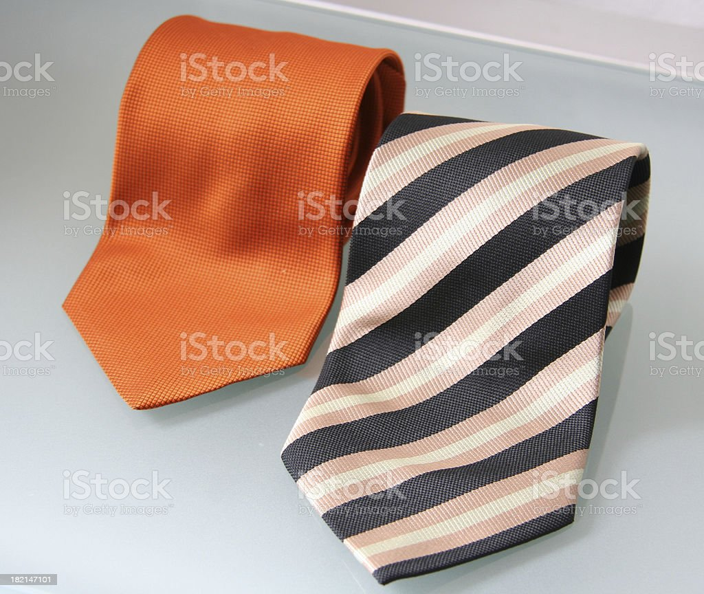 Two ties royalty-free stock photo