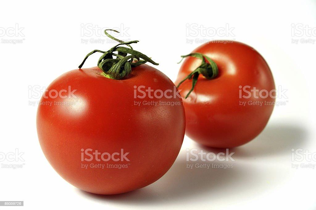two tomatoes royalty free stockfoto