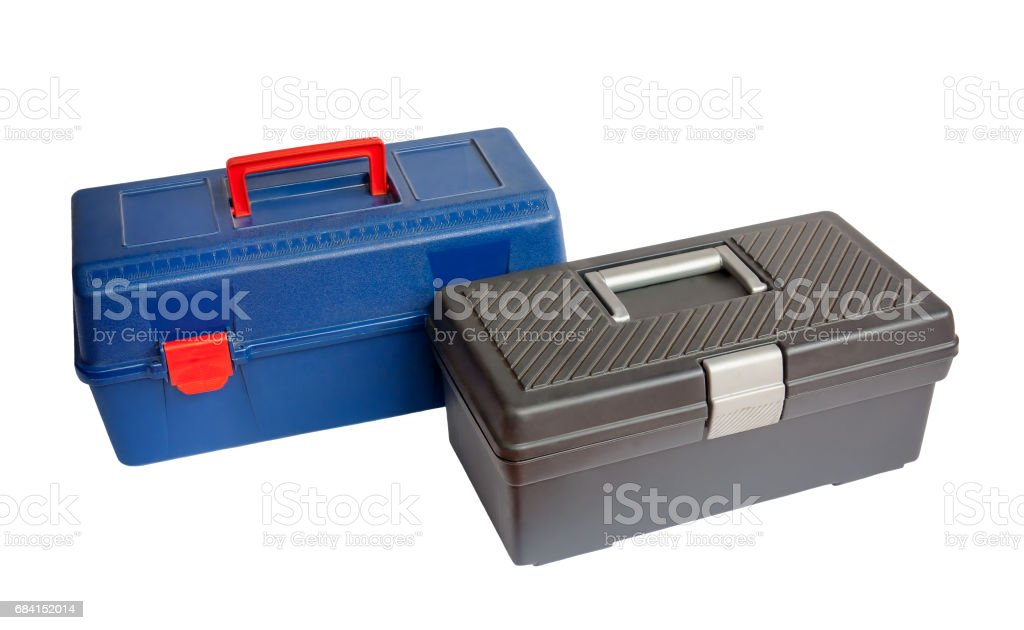 Two tool boxes isolated photo libre de droits