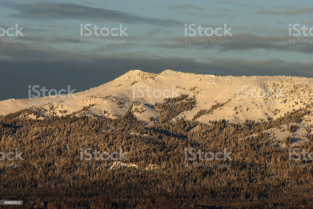 Two Top Mountain royalty-free stock photo