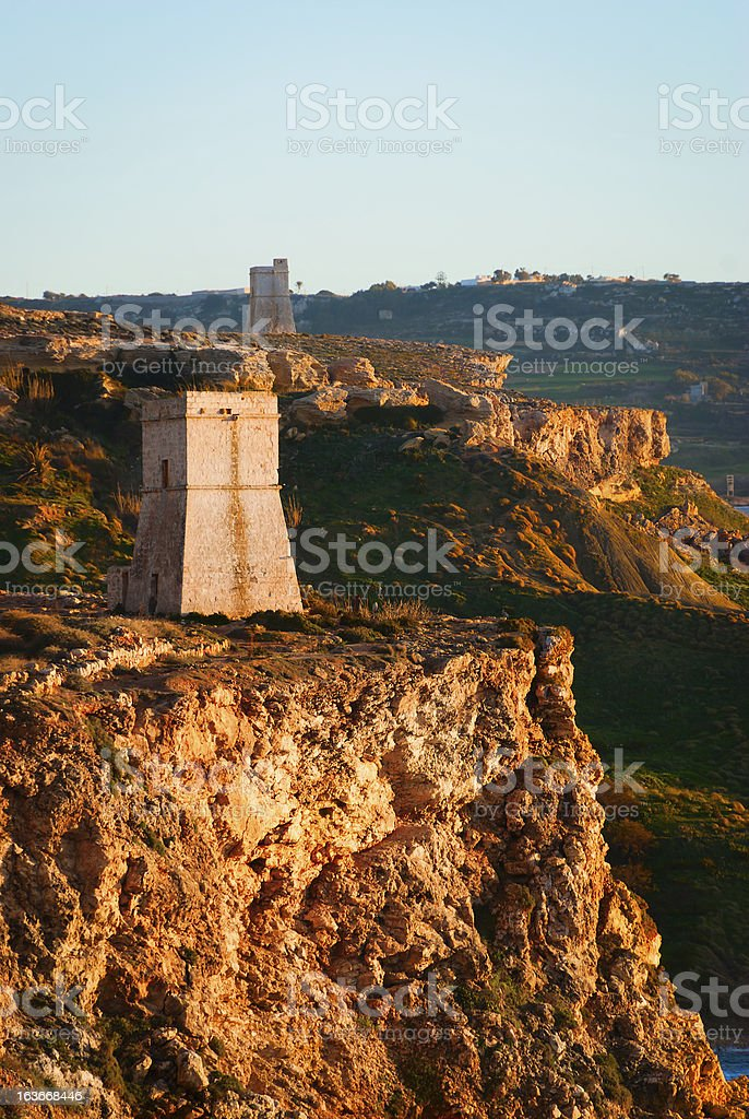Two Towers stock photo