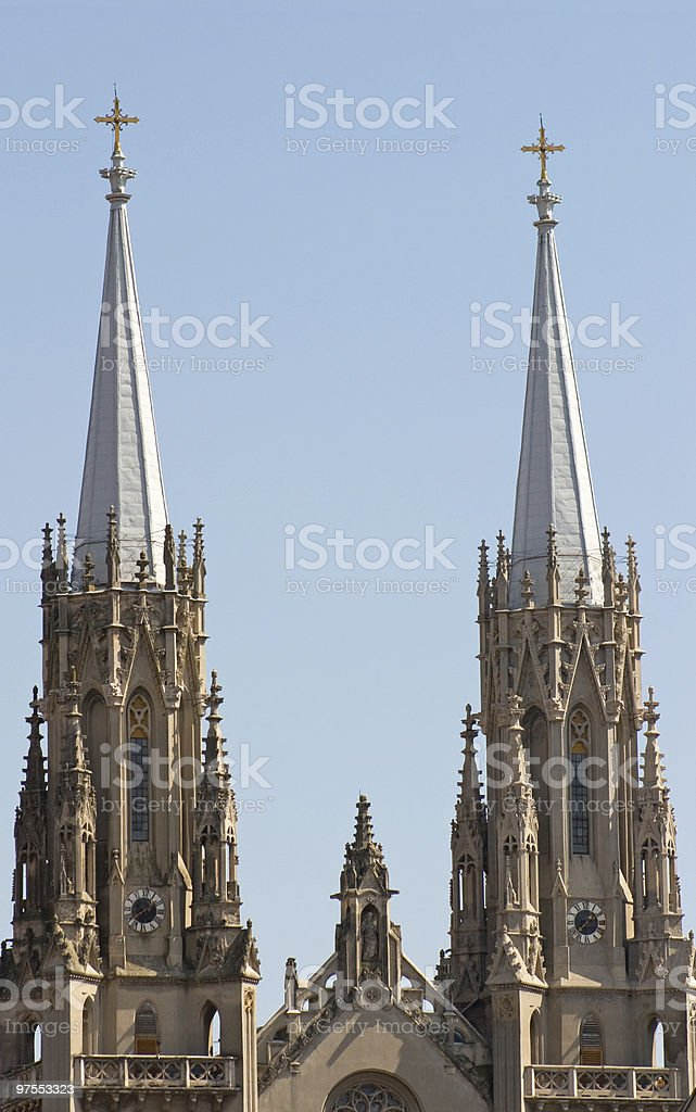 Two towers royalty-free stock photo