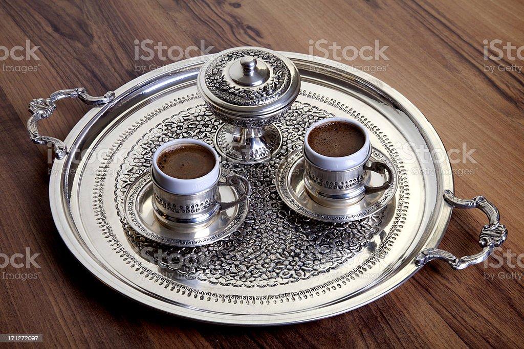 Two Turkish coffee stock photo