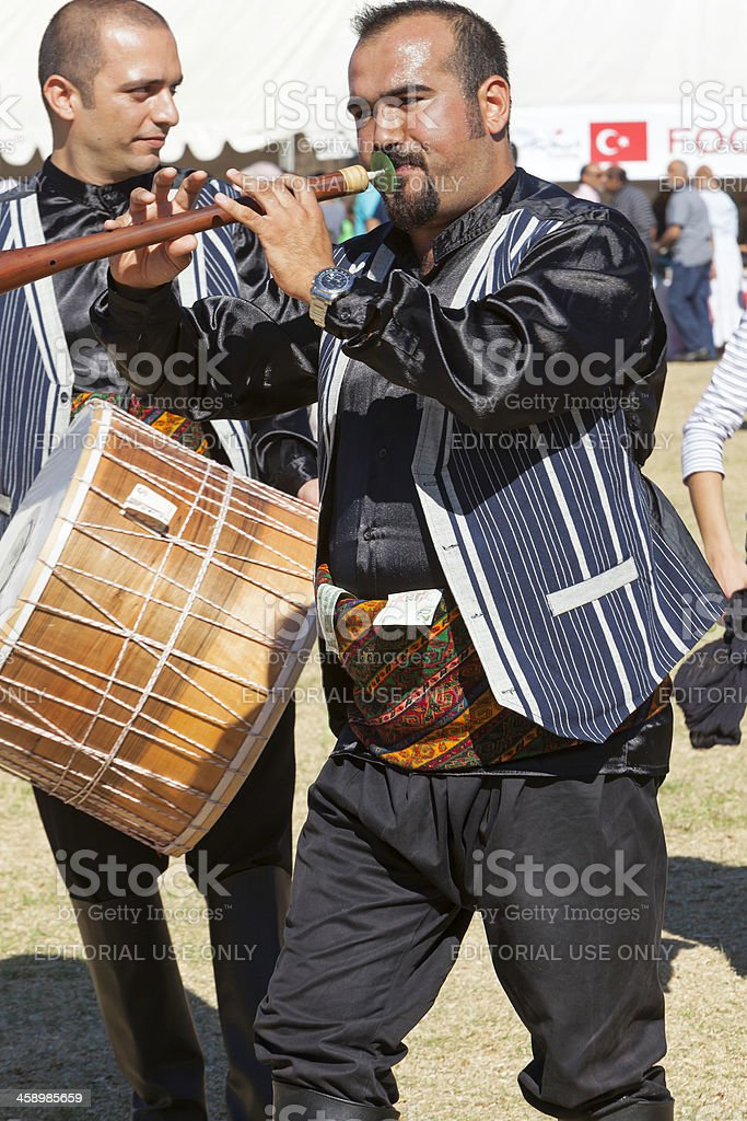 Two Turkish cultural musicians royalty-free stock photo