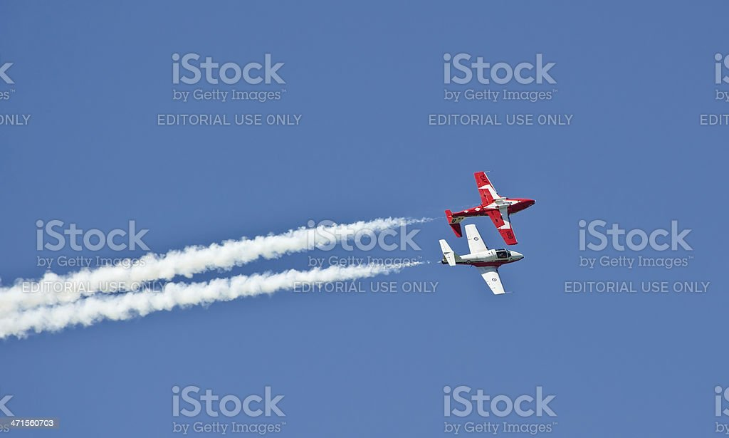 Two Tutor Jets royalty-free stock photo
