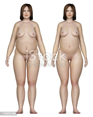 496193203istockphoto Two types of feminine bodies overweight, for study 176052466