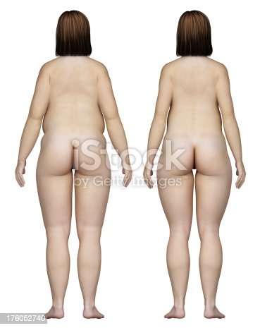 496193203istockphoto Two types of feminine bodies overweight, for study 176052740