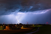 Two types of lightning strikes: one that strikes from cloud to ground (CG) and one that strikes from cloud to cloud (CC).