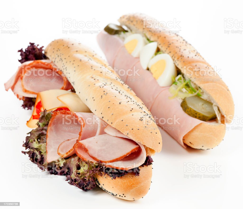 Two types of sandwiches royalty-free stock photo
