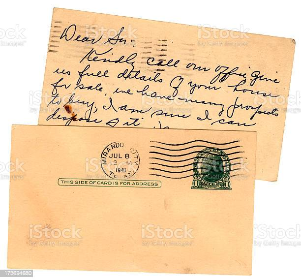Two USA postcards 1941, one blank