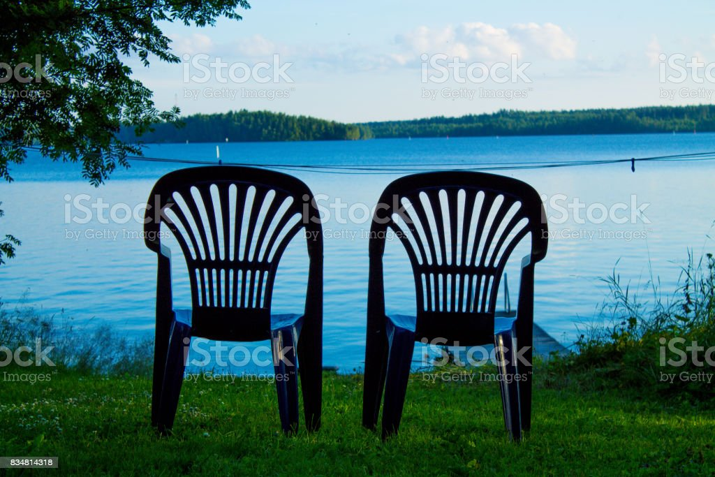 Two vacant places stock photo