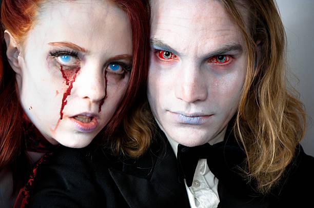 Two vampires stock photo