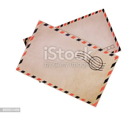 istock Two vintage airmail envelopes 635924456