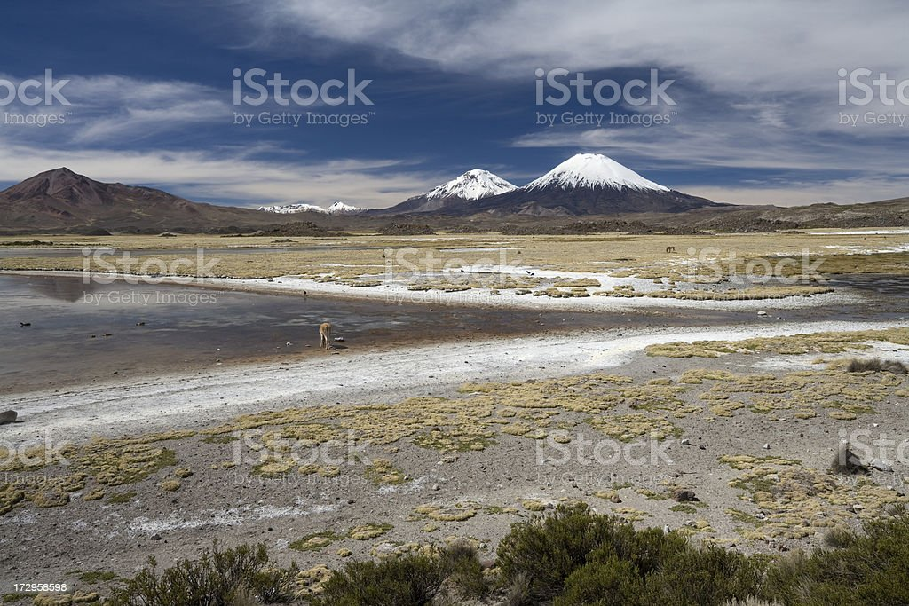Two Volcanoes royalty-free stock photo
