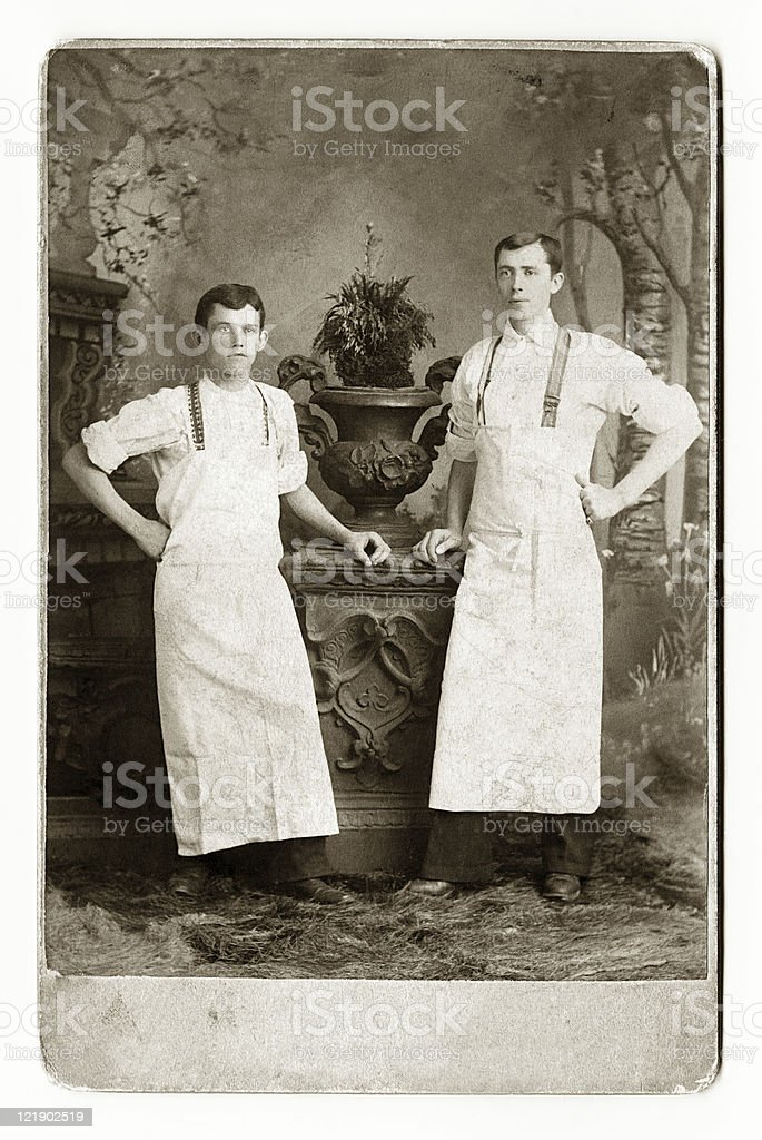 Two Waiters or Bakers stock photo