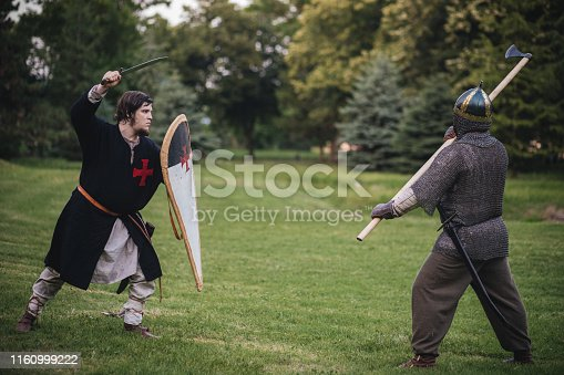 Fighting performance on a medieval festival