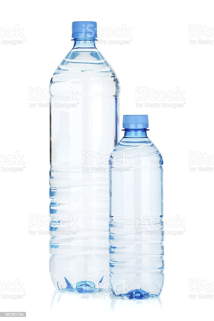 Two water bottles royalty-free stock photo