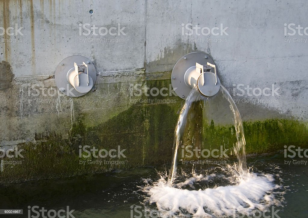two water pipes royalty-free stock photo