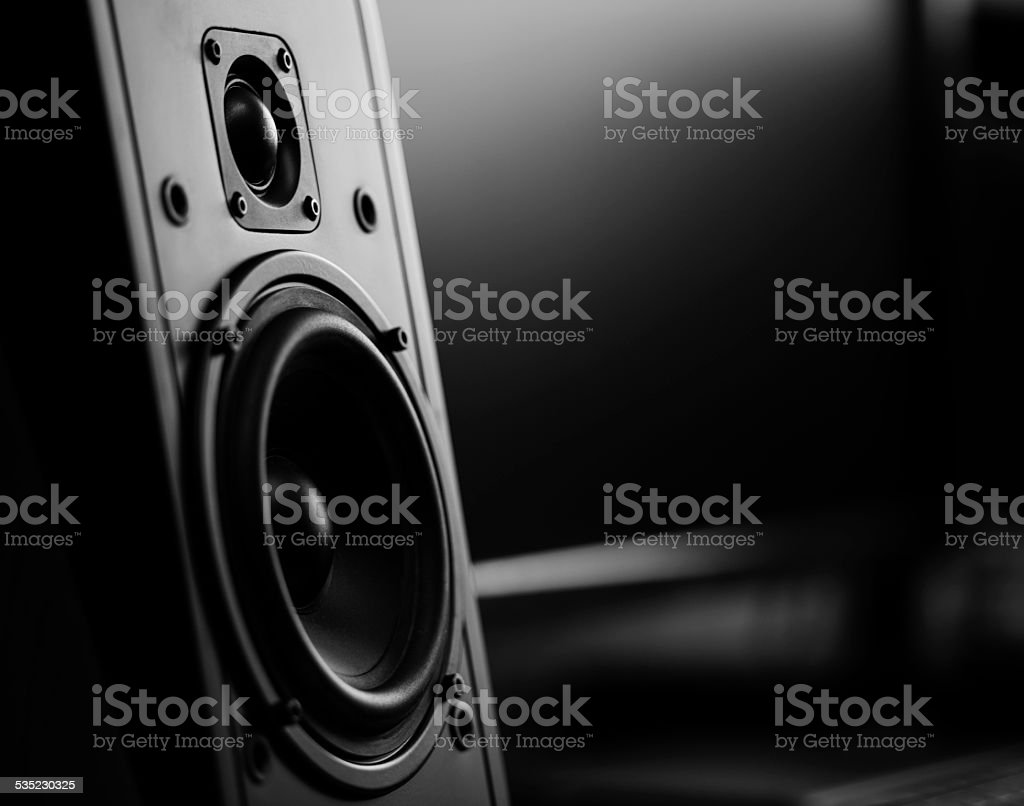 Two way loudspeaker stock photo