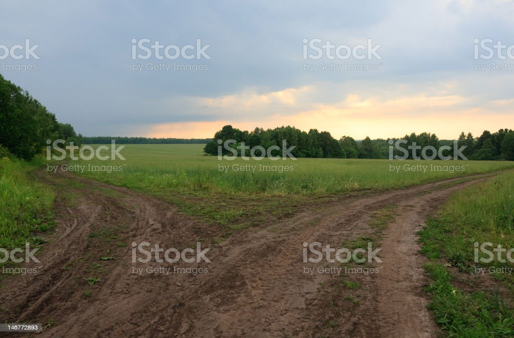 Two way stock photo