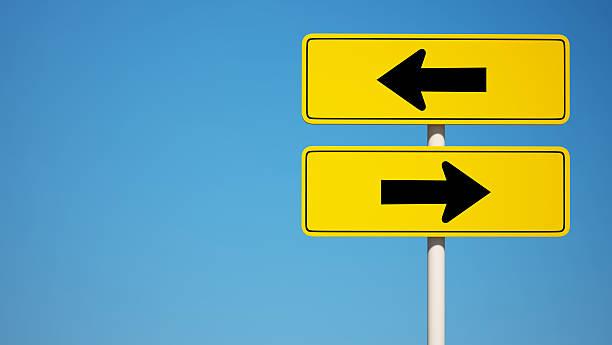 zwei wege-symbol mit clipping path - zweispurige strecke stock-fotos und bilder