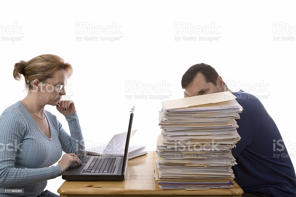 Two ways of doing income tax return royalty-free stock photo