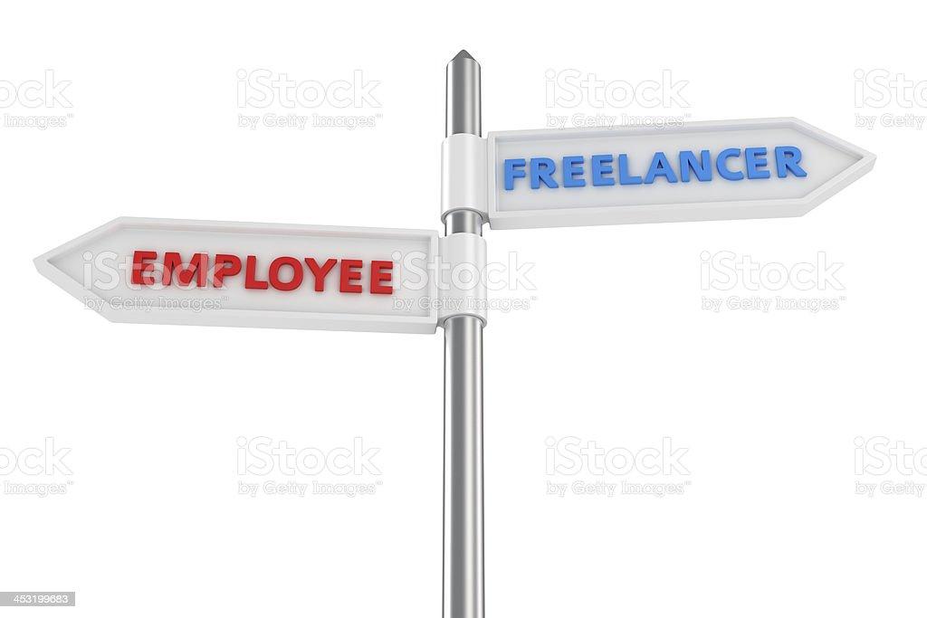 Two ways of job royalty-free stock photo