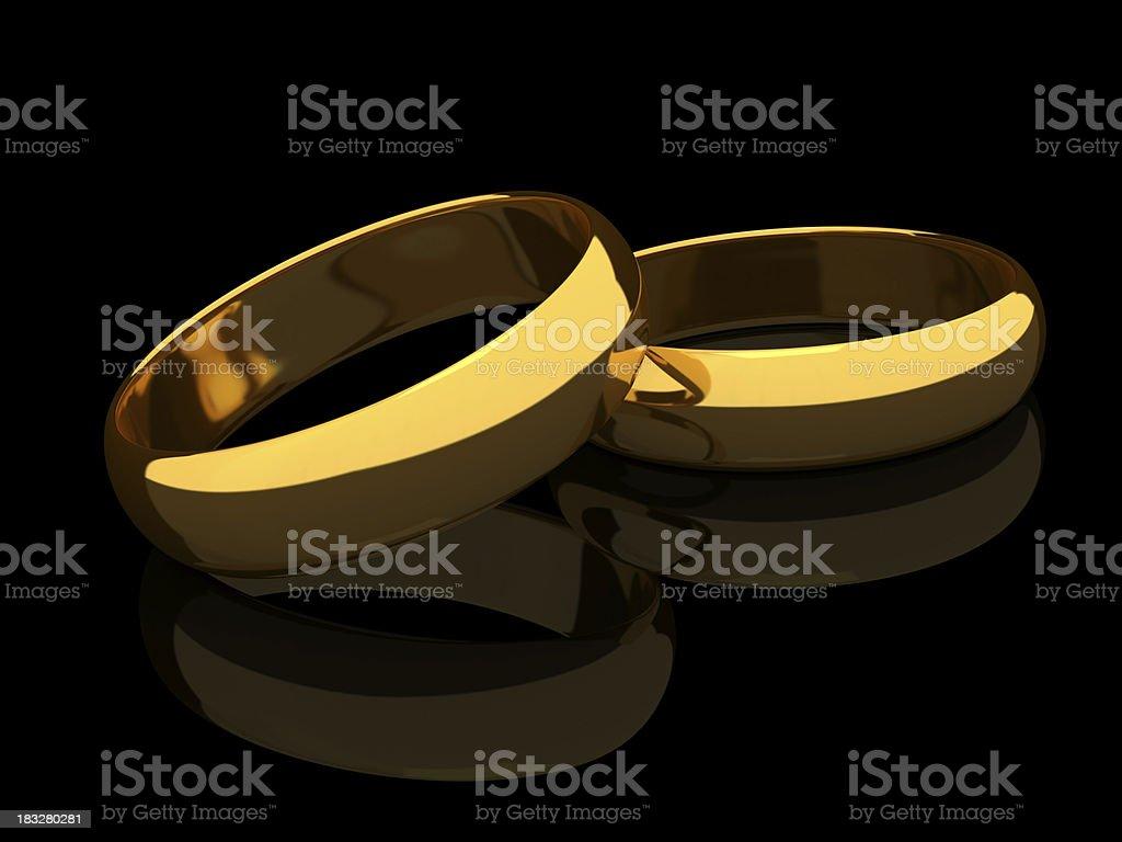 Two Wedding ring royalty-free stock photo
