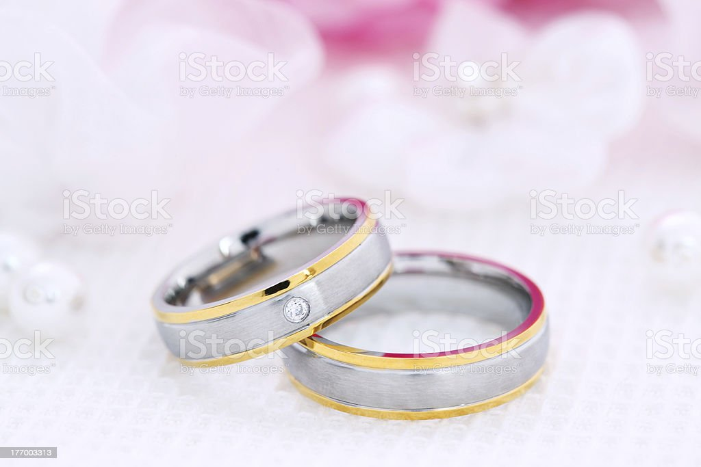 Two wedding rings royalty-free stock photo