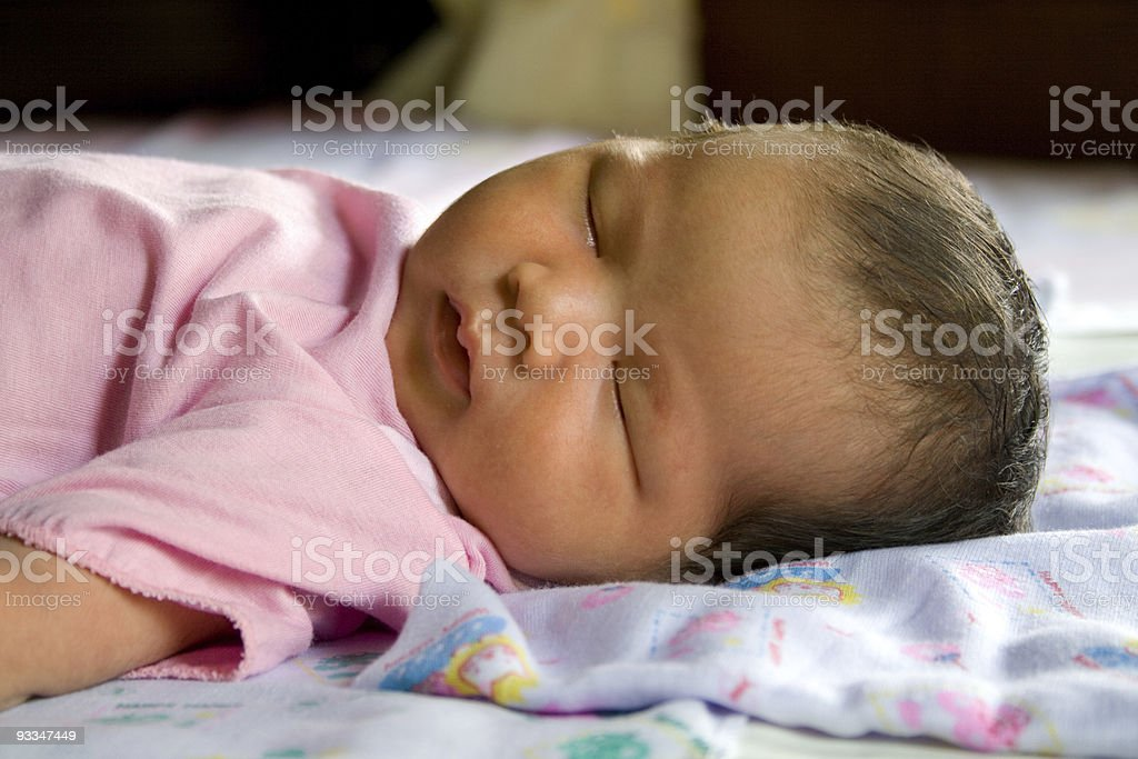 Two weeks daugther. stock photo