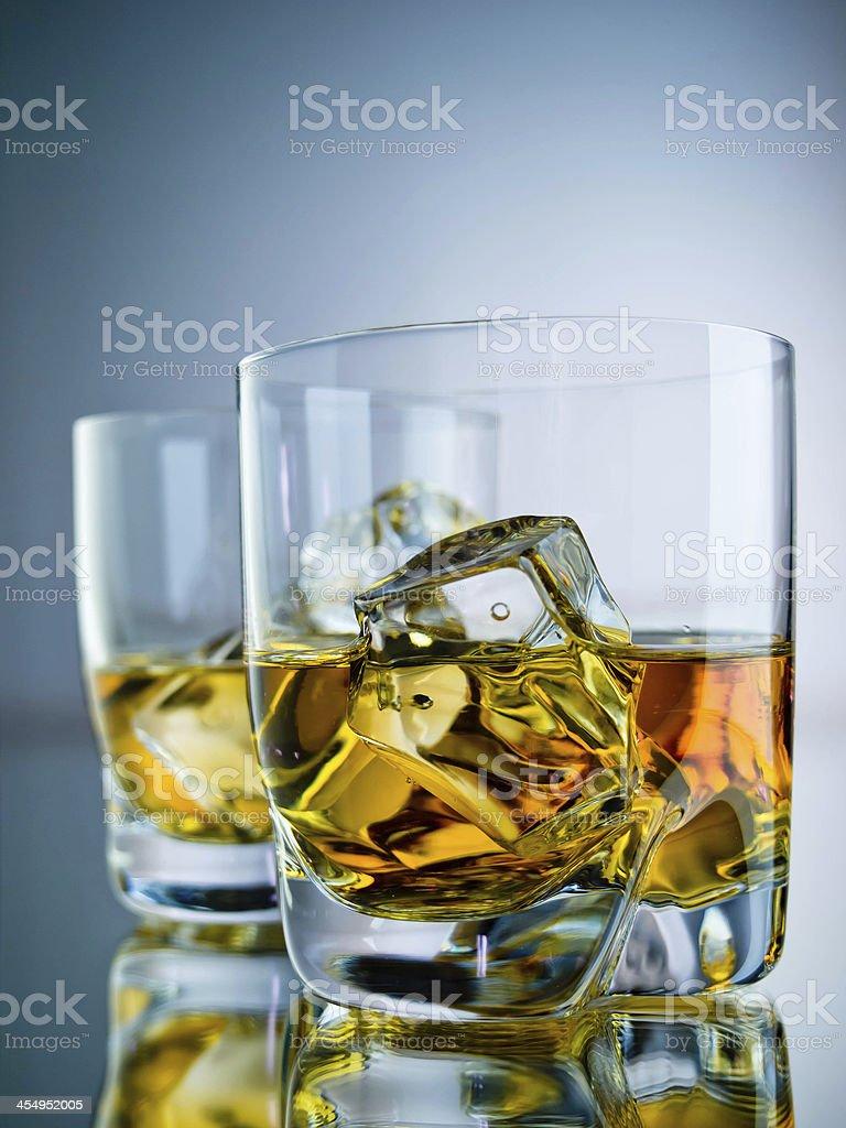 Two whiskeys royalty-free stock photo