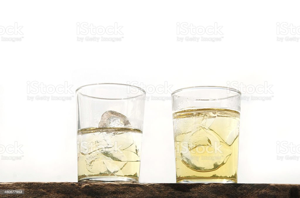 two whisky glass royalty-free stock photo