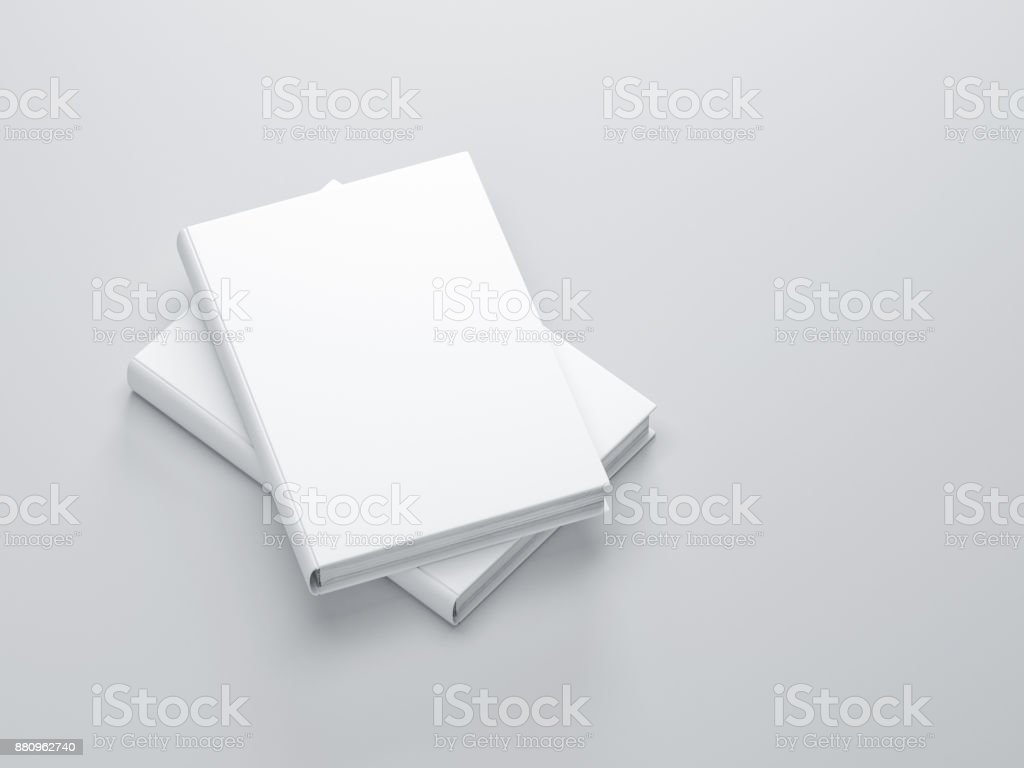 Two white books with blank cover Mockup royalty-free stock photo