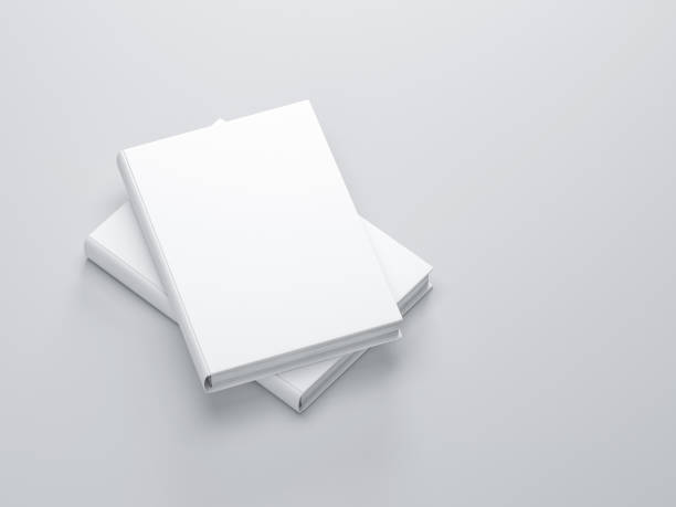 Two white books with blank cover Mockup stock photo