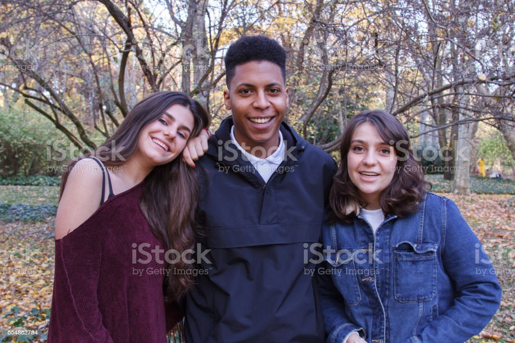 young black teen white guy