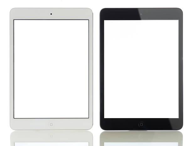 dwa biały ekran apple ipad mini - ipad zdjęcia i obrazy z banku zdjęć
