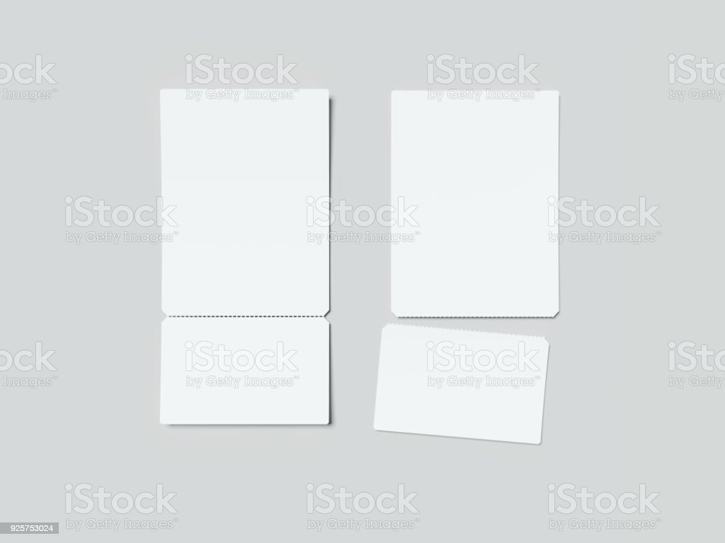 two white tearoff tickets 3d rendering stock photo more pictures