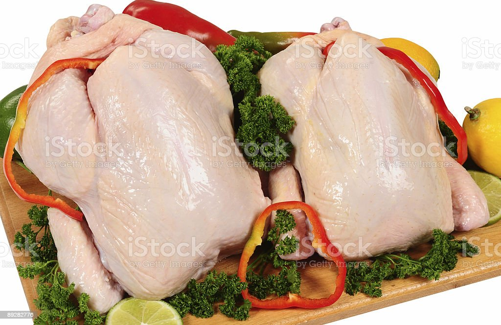 Two whole chicken. royalty-free stock photo